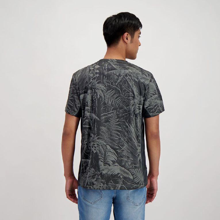 Back Country Men's Cooldry Spliced Camo Tee, Charcoal, hi-res