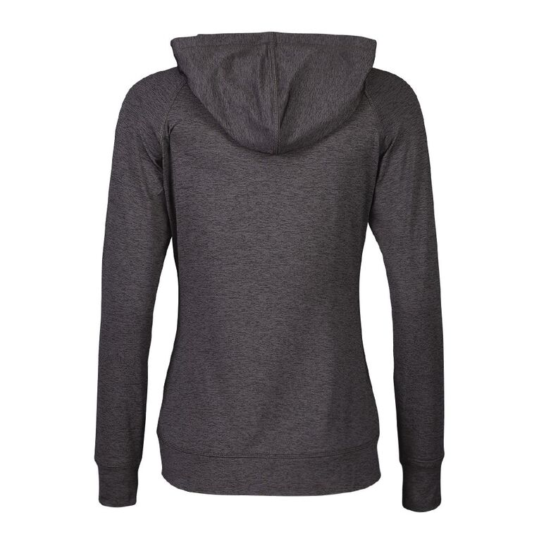 Active Intent Women's Peached Marle Sweatshirt, Black, hi-res