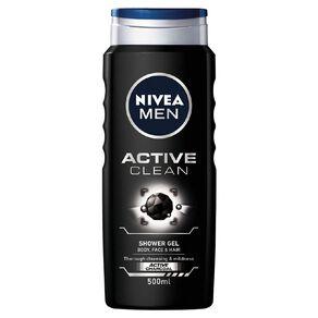 Nivea Men Shower Gel Active Clean 500ml