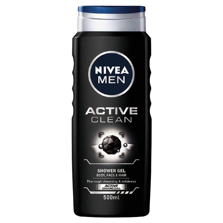 Nivea Men Shower Gel Active Clean 500ml, , hi-res