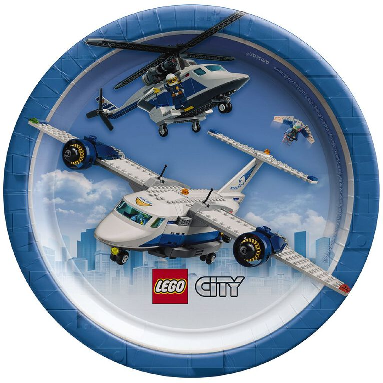 LEGO City Round Plates 17.7cm 8 Pack, , hi-res