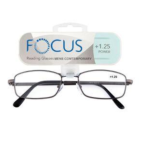 Focus Reading Glasses Men's Contemporary 1.25