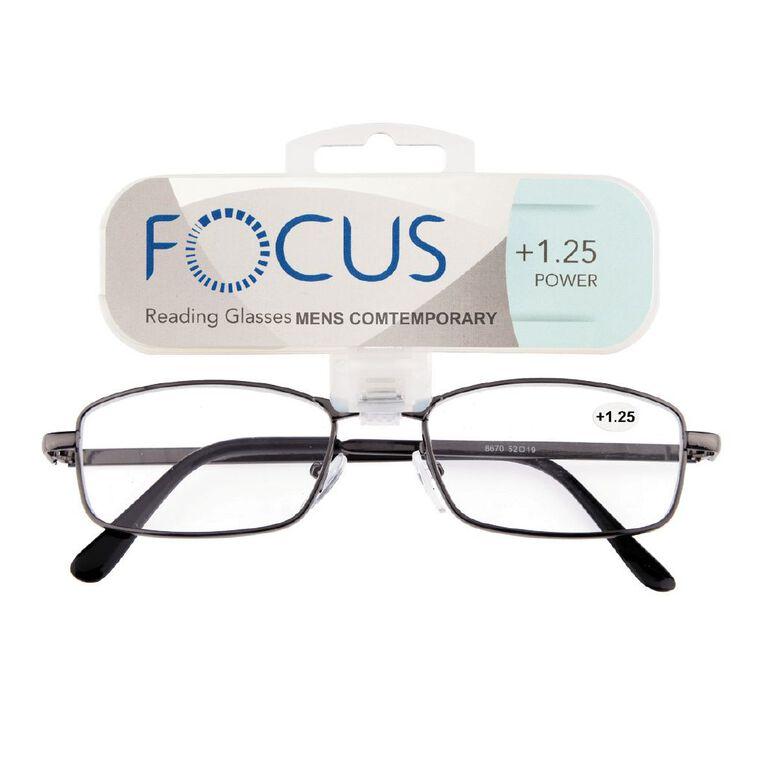 Focus Reading Glasses Men's Contemporary 1.25, , hi-res