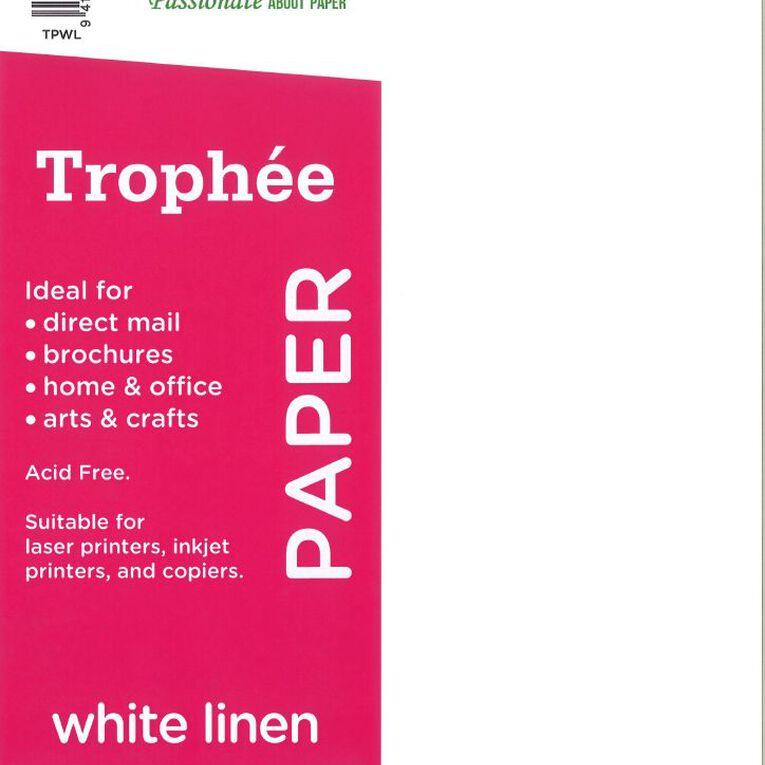 Trophee Paper 80gsm 30 Pack Linen White A4, , hi-res