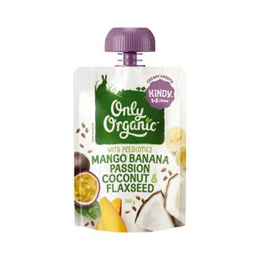 Only Organic Mango Passion Coconut Flaxseed 100g