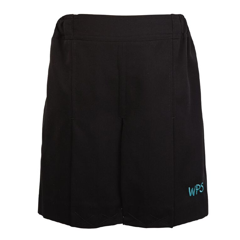 Schooltex Waipu Girls' Skort with Embroidery, Black, hi-res