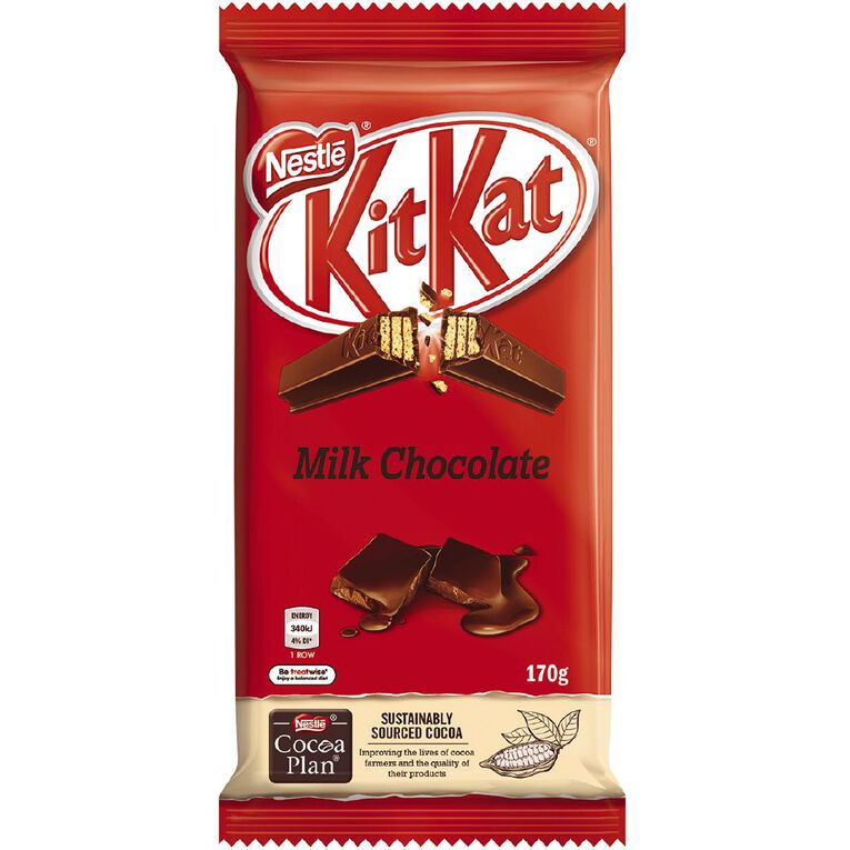 Nestle Kit Kat Milk Choc Block 170g, , hi-res