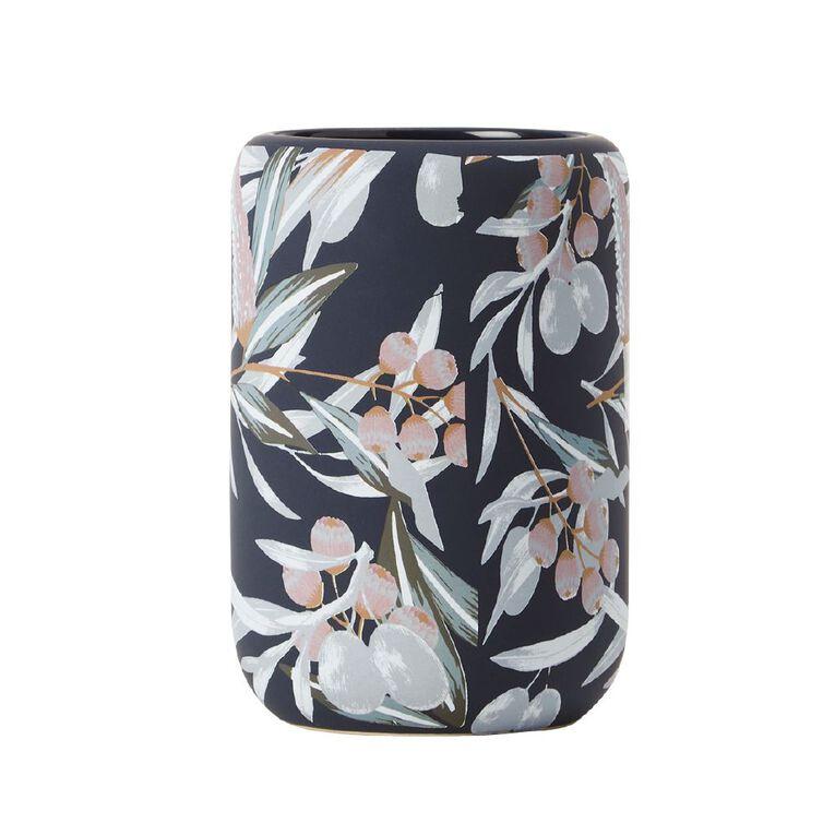 Living & Co Tumbler Ceramic Ava Navy 350ml, Navy, hi-res
