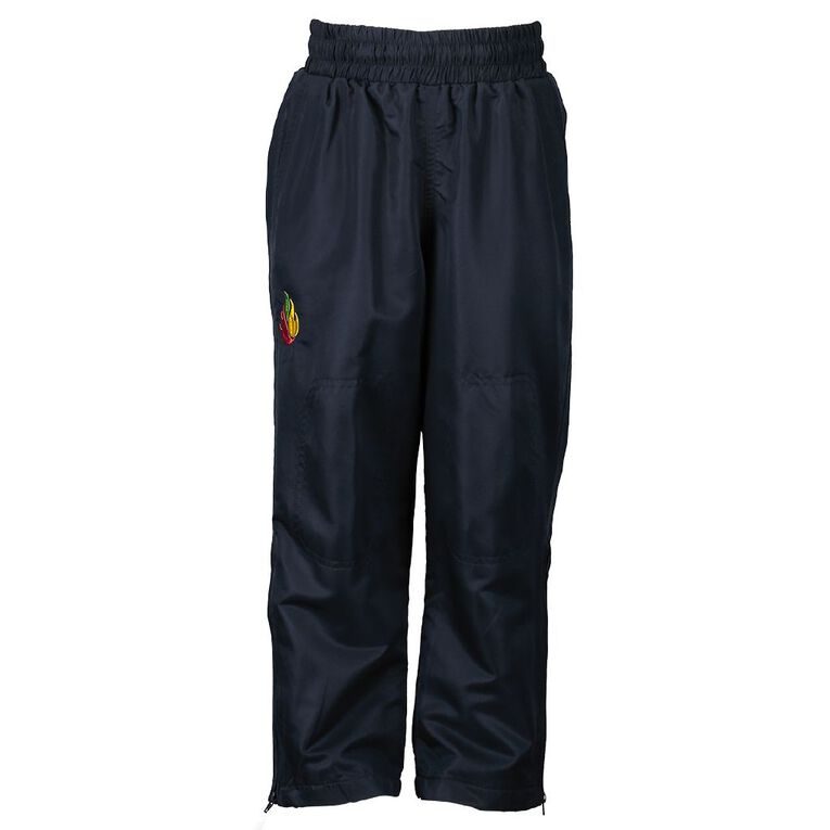 Schooltex Rakaia Straight Pongee Trackpants, Navy, hi-res