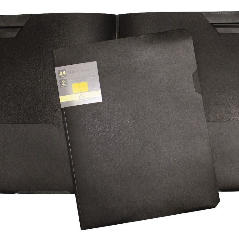 GBP Stationery Eco Report Cover Black, , hi-res