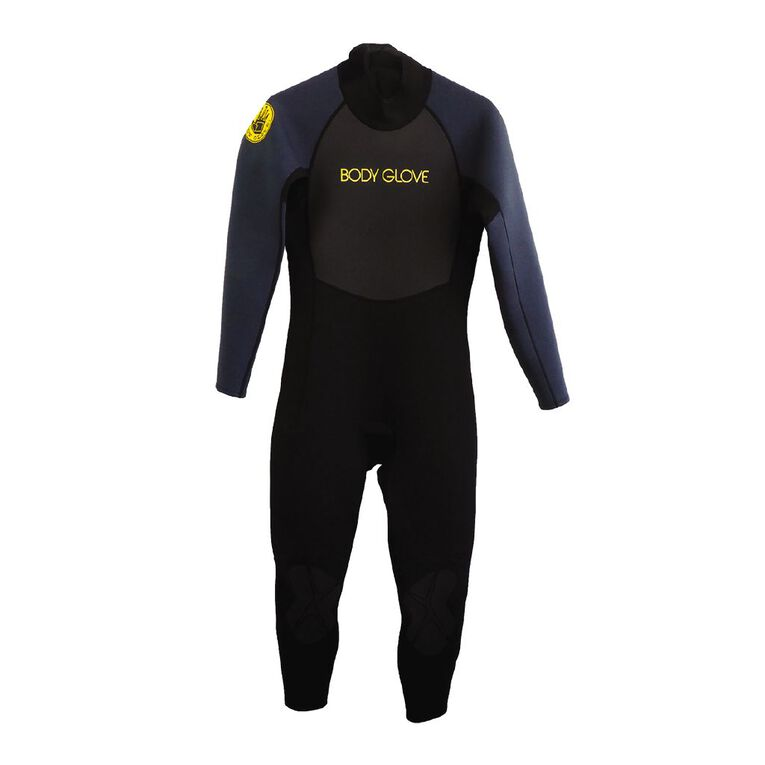 Body Glove Men's Full Suit Black/Grey Large, Black/Grey, hi-res