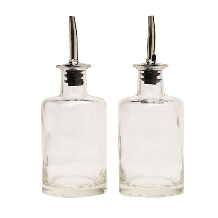 Living & Co Condiment Bottle Glass 2 Pack, , hi-res