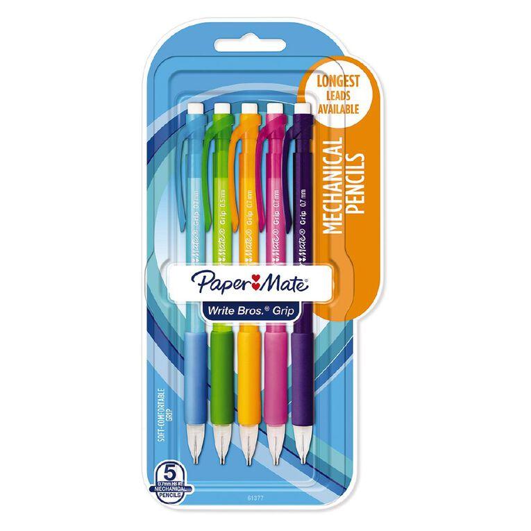 Paper Mate Grip 0.7mm Mechanical Pencil 5 Pack, , hi-res