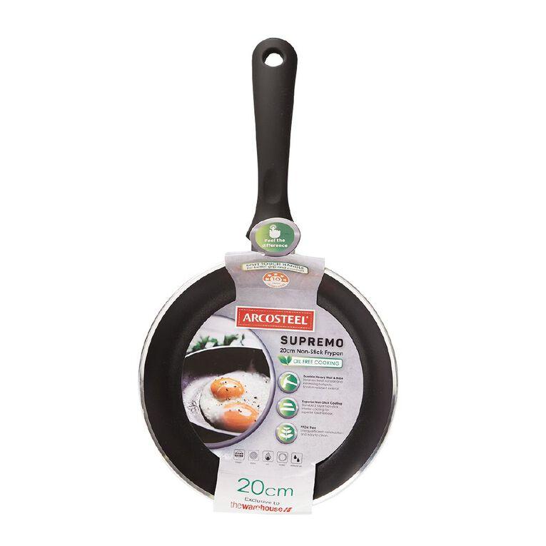 Arcosteel Supremo Frypan Black 20cm, , hi-res