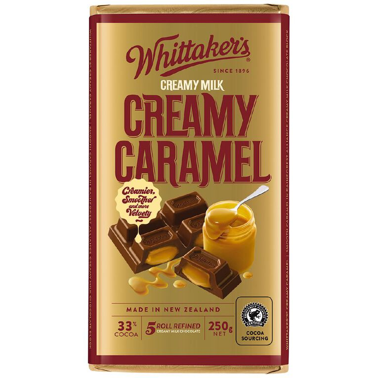 Whittaker's Creamy Caramel Block 250g, , hi-res