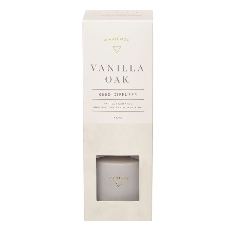 Living & Co Ambience Diffuser Vanilla Oak White 120ml, White, hi-res