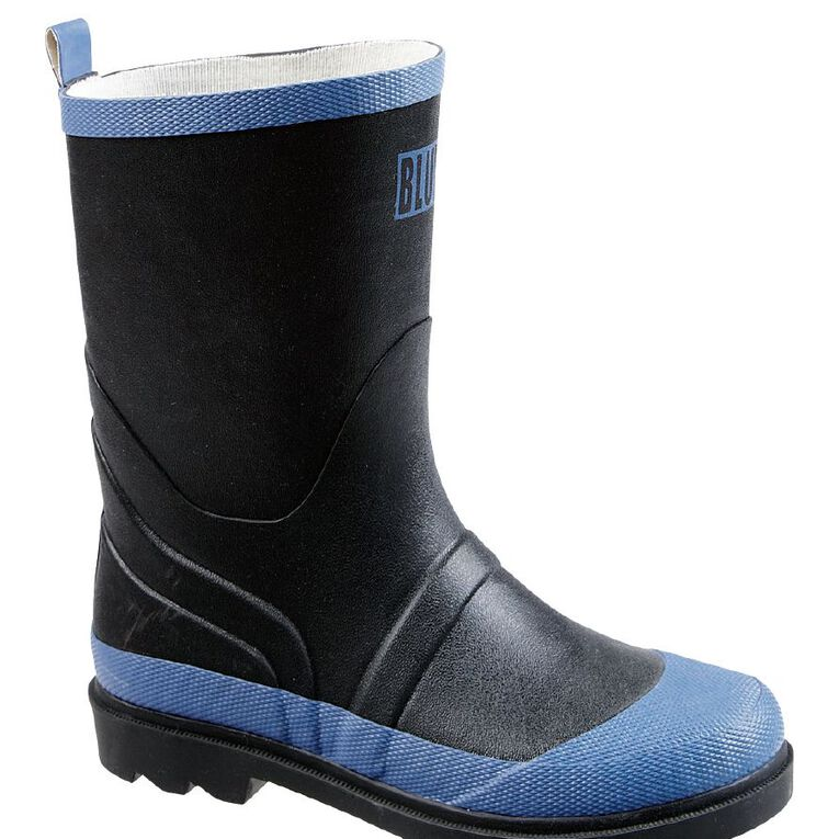 Blue Collar Kids' Gumboots, Black, hi-res