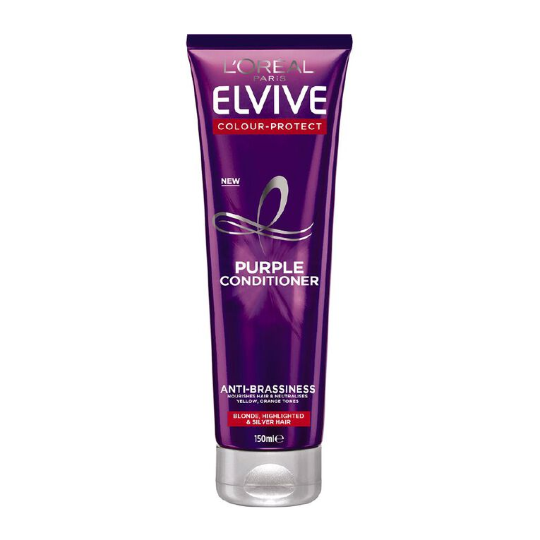 L'Oreal Paris Elvive Colour Protect Purple Conditioner 150ml, , hi-res