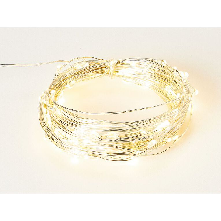 Living & Co Twinkle Light Warm White LED Silver 10m, , hi-res