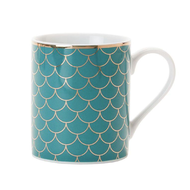 Living & Co Mermaid Mug Teal, , hi-res