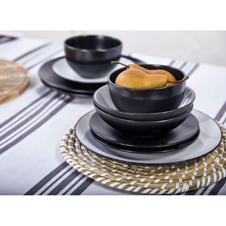 Living & Co Coast Matte Dinner Set Black 12 Piece, , hi-res