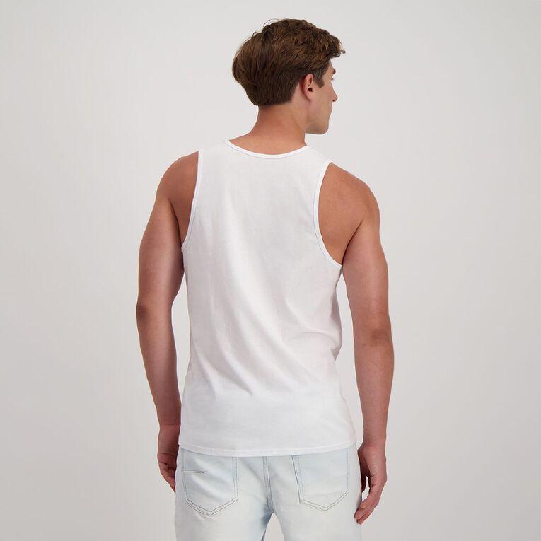 H&H Men's Plain Singlet, White, hi-res
