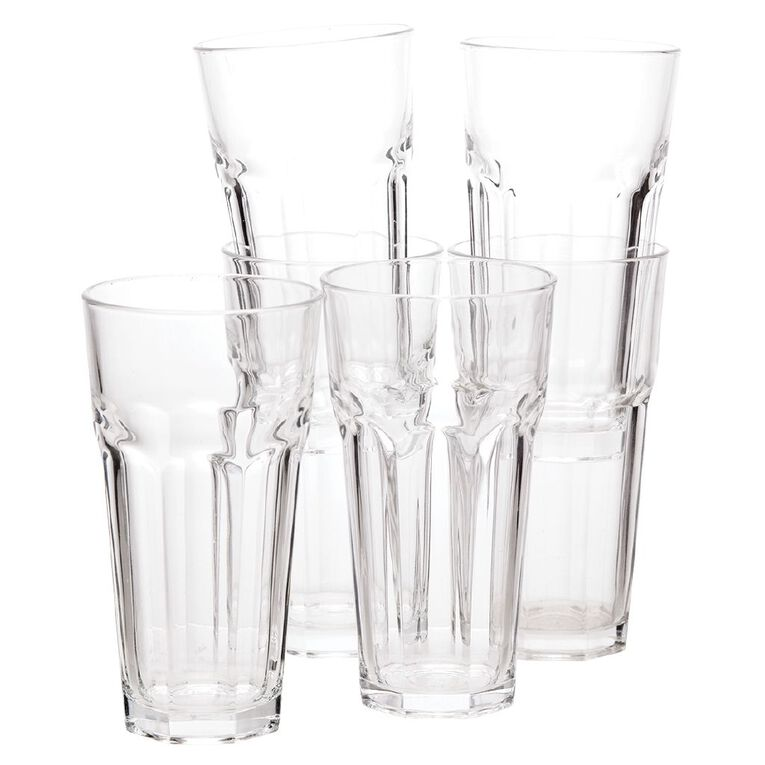 Living & Co Bistro Hiball Glass Tumbler 6 Pack, , hi-res