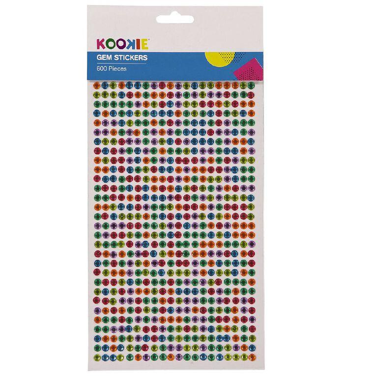Kookie Adhesive Gem Stickers, , hi-res