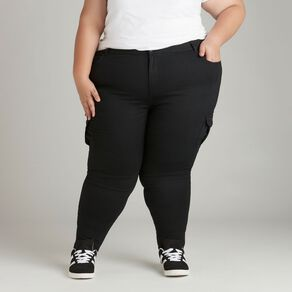 H&H Plus Women's Zip Skinny Cargo Pants
