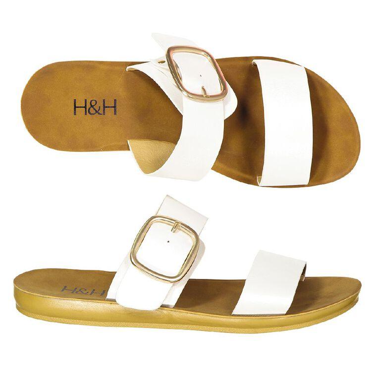 H&H Womans Melissa Sandals, White, hi-res