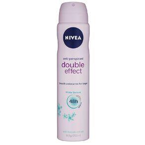 Nivea Deodorant Aerosol Double Effect White Senses 250ml