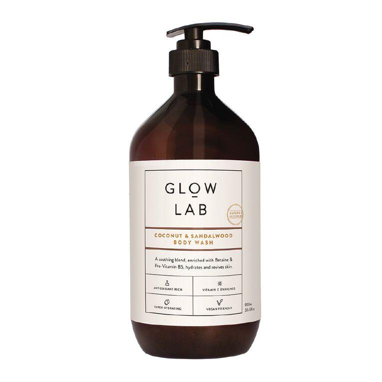 Glow Lab Body Wash Coconut & Sandalwood 900ml, , hi-res