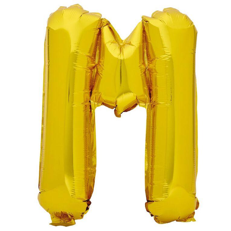 Artwrap Foil Balloon M Gold 35cm, , hi-res