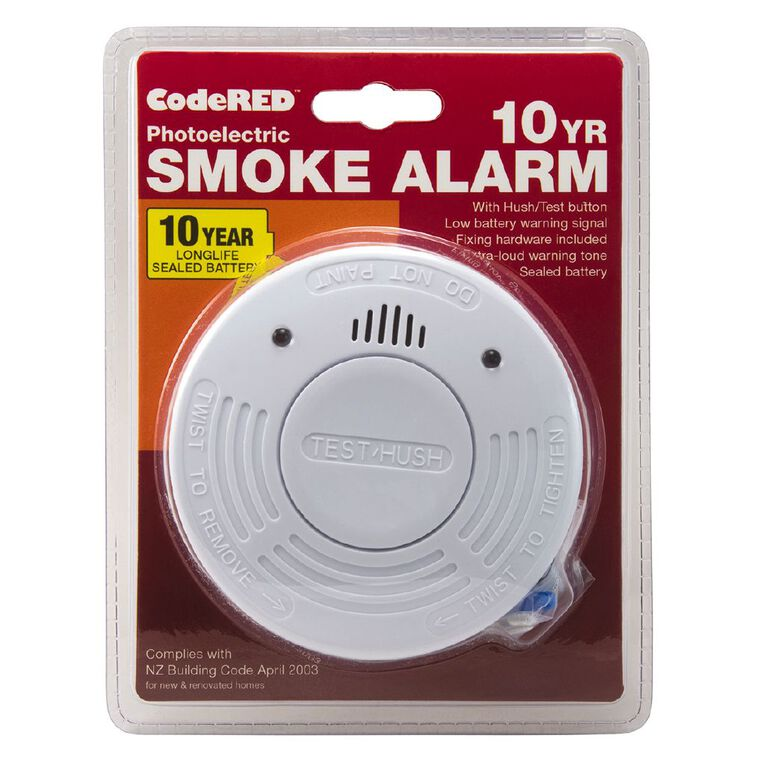 CodeRED 10 Year Photoelectric Smoke Alarm 1 Pack, , hi-res