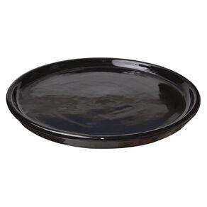 Kiwi Garden Round Saucer Black 20cm