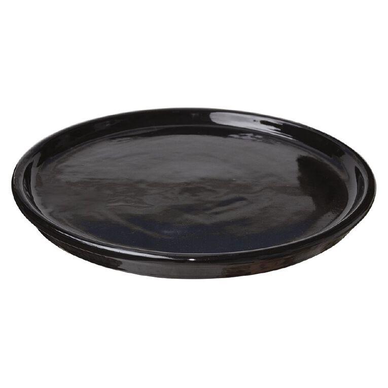 Kiwi Garden Round Saucer Black 20cm, , hi-res