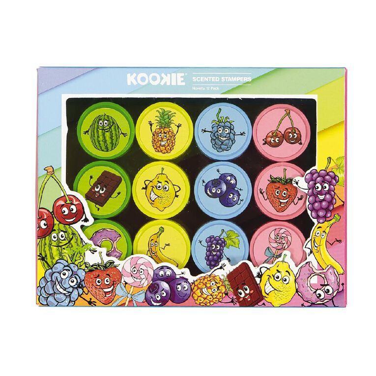 Kookie Novelty Stamp Set Scented 12 Pack Multi-Coloured, , hi-res