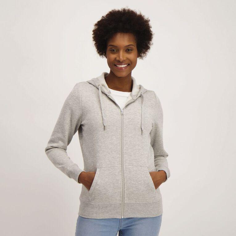 H&H Women's Zip Thru, Grey Marle, hi-res