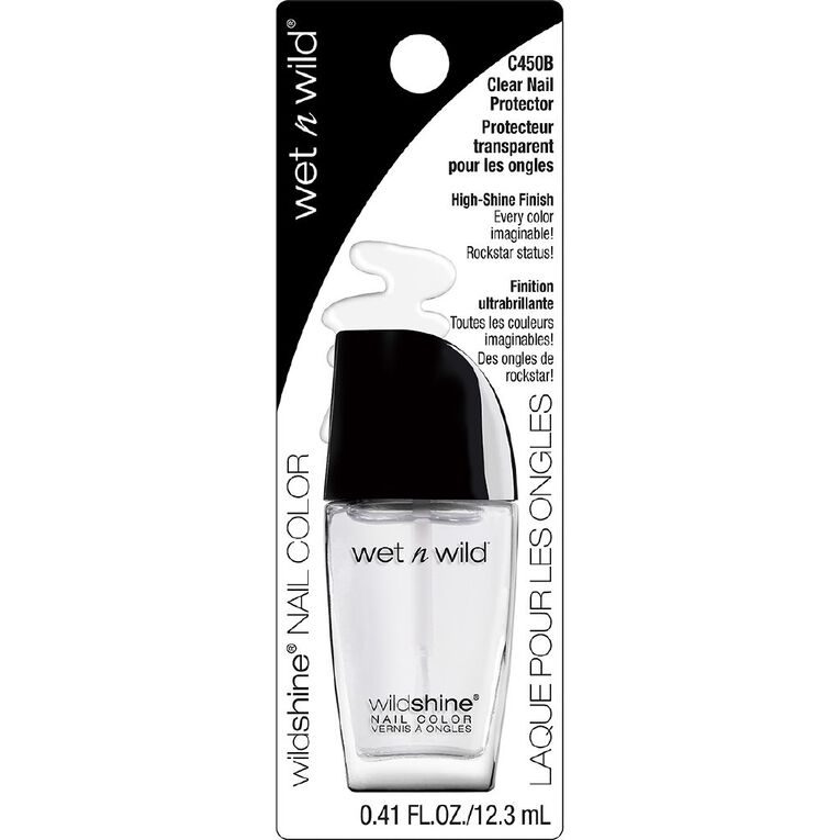 Wet n Wild Wild Shine Nail Color Clear Nail Protector, , hi-res