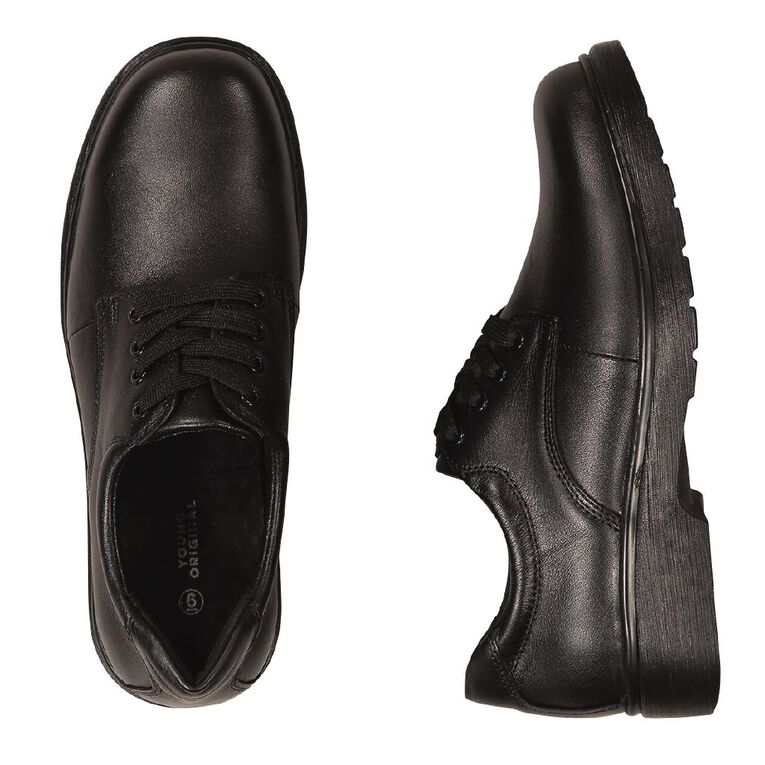 Young Original Divide Leather Senior Shoes, Black, hi-res image number null