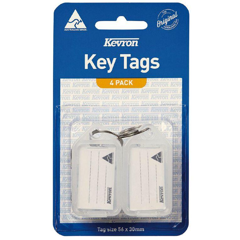 Kevron ID5 Key Tag Clear 4 Pack, , hi-res