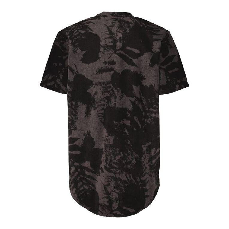 Back Country Camo Fleece Short Sleeve Tee, Charcoal, hi-res