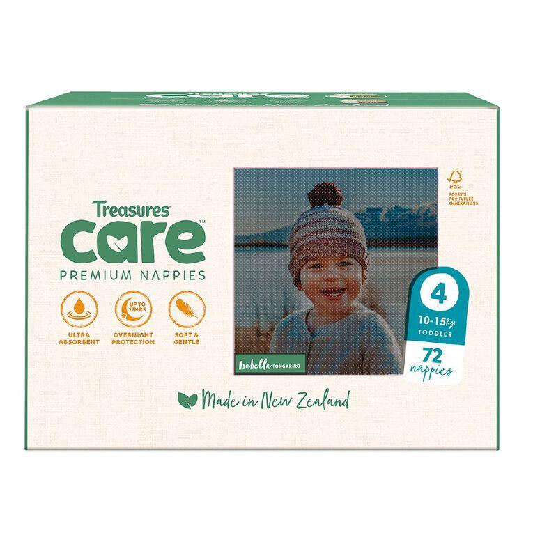 Treasures Care Nappy Toddler Size 4 - Jumbo 72pk, , hi-res