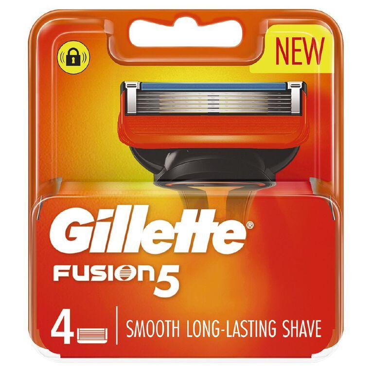 Gillette Fusion Razor Blades 4 Pack, , hi-res