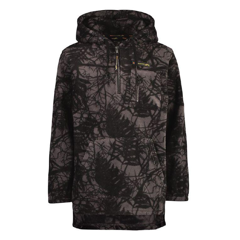 Back Country Microfleece Hooded Sweatshirt, Black, hi-res