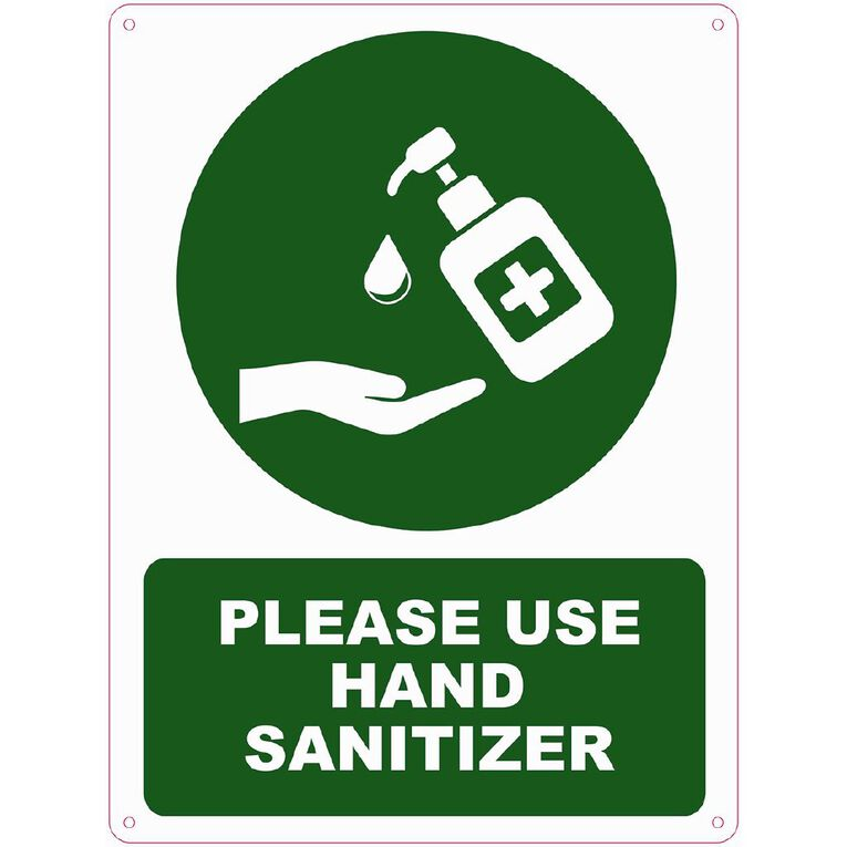 WS COVID Sign PLEASE USE HAND SANITIZER, , hi-res