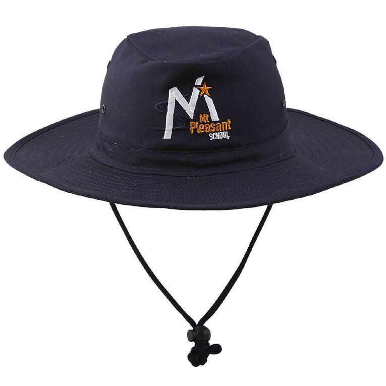Schooltex Mt Pleasant School Aussie Hat, Navy, hi-res