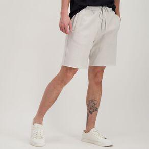 Garage Men's Elastic Waist Raw Hem Knit Shorts