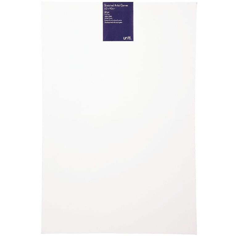 Uniti Blank Canvas 280gsm (24in x 36in) 60cm x 90cm, , hi-res image number null