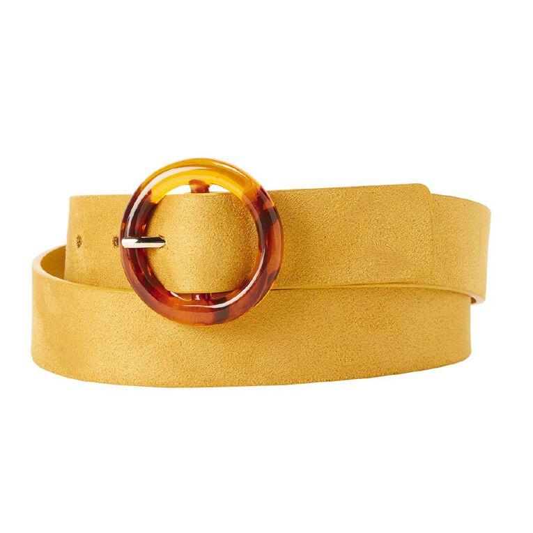H&H Women's Tort Buckle Belt, Yellow, hi-res